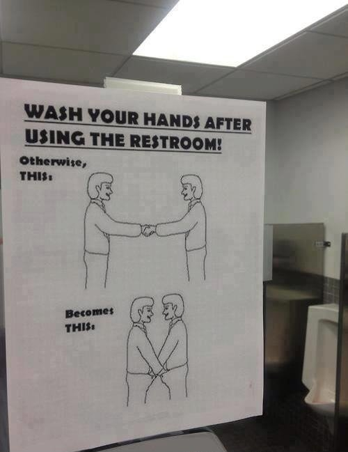 Always wash your hands!