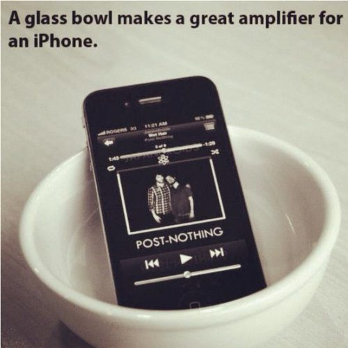 Amplify iPhone speaker sound