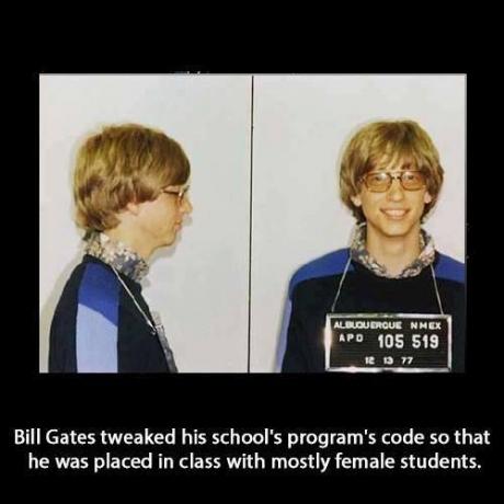 Bill Gates, the criminal.