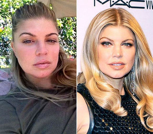 Celebs Without Makeup — Fergie