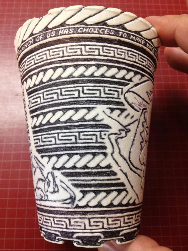 Crazy Styrofoam Cup Art 11