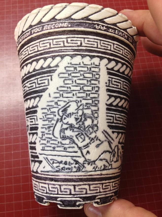Crazy Styrofoam Cup Art 6