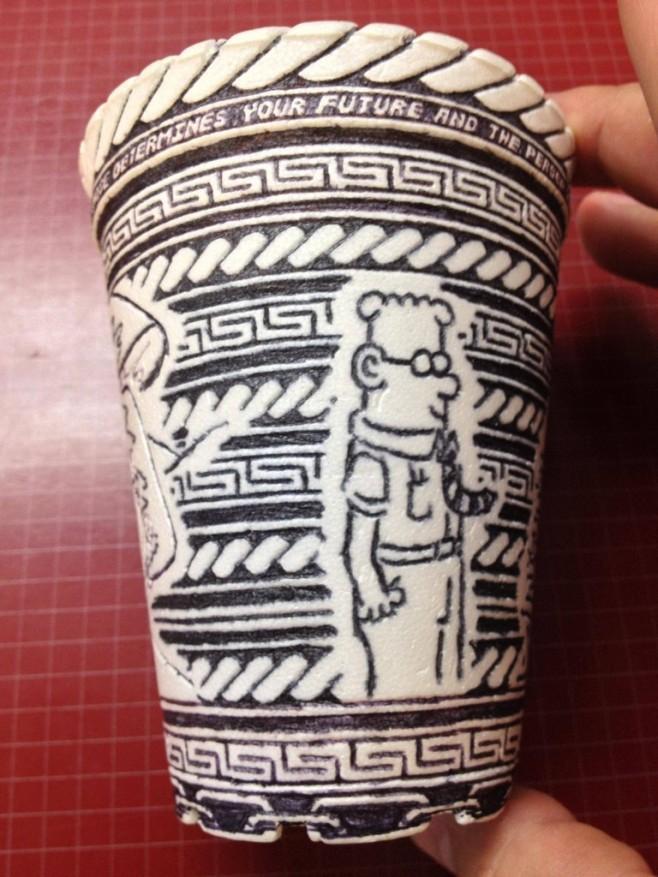 Crazy Styrofoam Cup Art 9