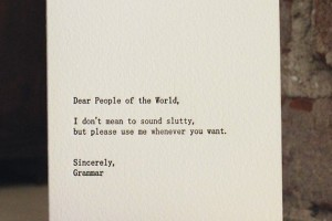 Dear People of the World...