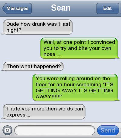 Funniest Drunk Texts Ever 2