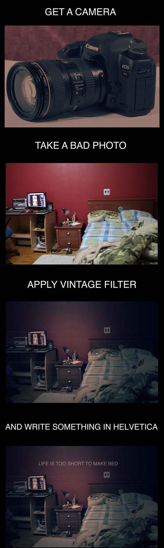 How to take a hipster motivational photo…