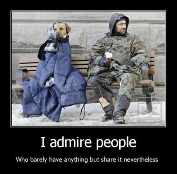 I admire those people