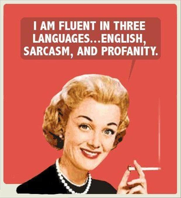 I am fluent in three languages