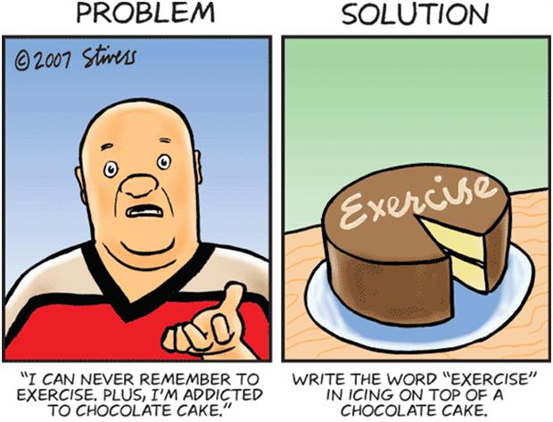 I never exercise and I am addicted to chocolate cake