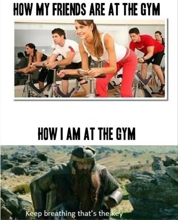 Me vs my friends In the gym