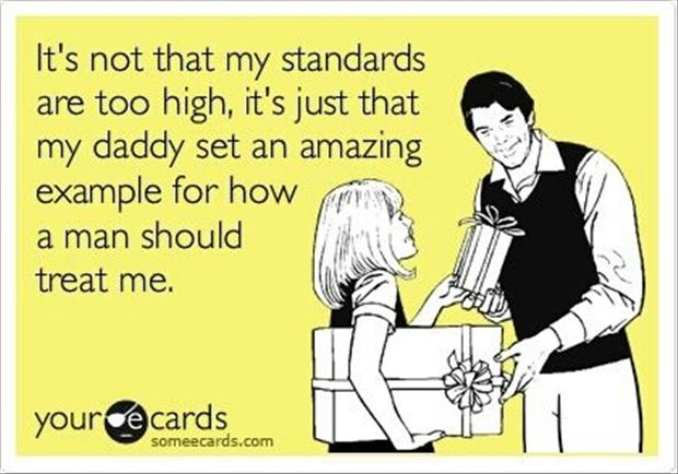 My standards are not too high...