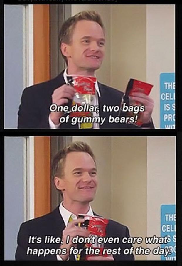 One dollar, two bags