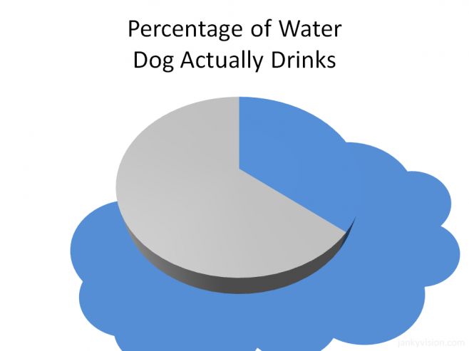 Percentage of water a dog drinks (Graph)