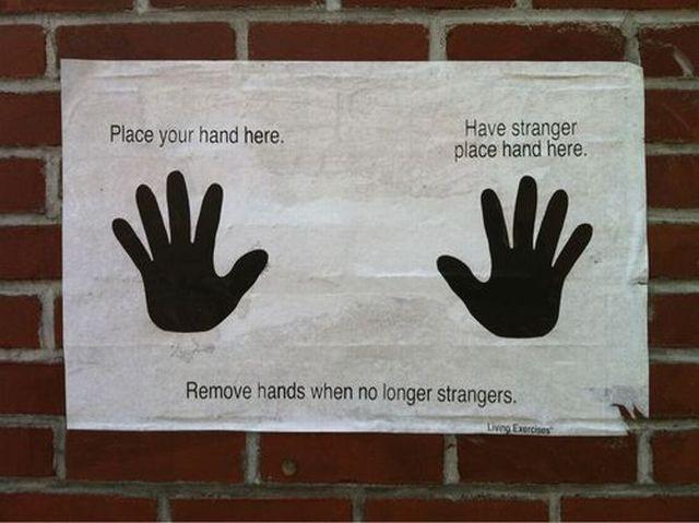 Remove hands when no longer strangers