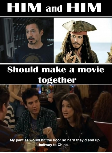Robert and Jack in a movie