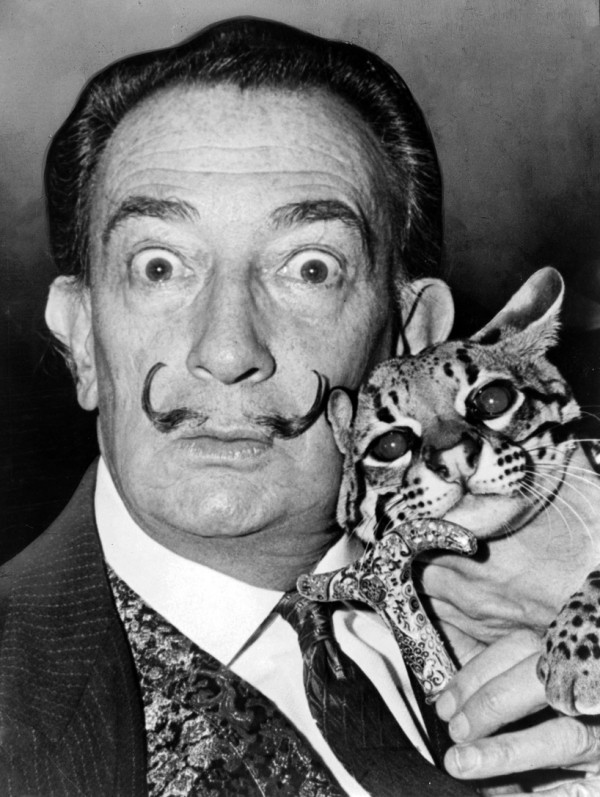 Salvador Dalí with Babou