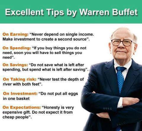 Simple, effective tips from Warren Buffet.