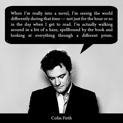 When I'm really into a novel.