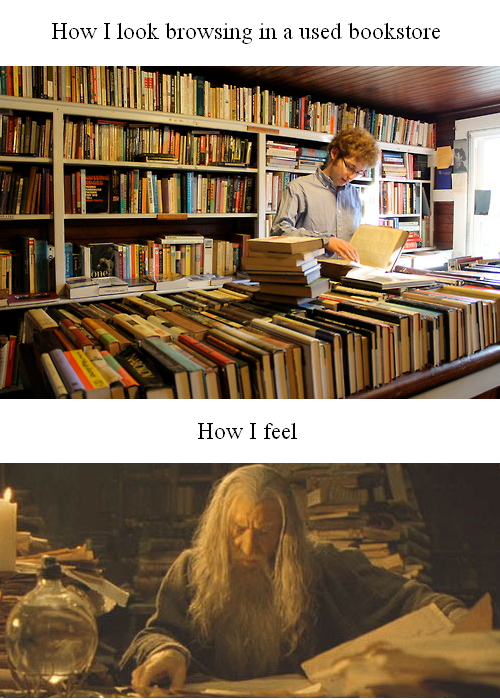 used bookstore meme