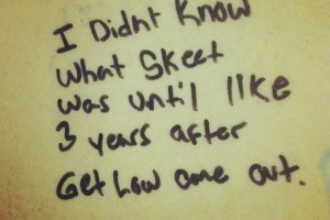 Wisdom from Bathroom Stalls 1