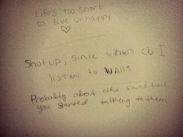 bathroom stall writing. wisdom from bathroom stalls 8 stall writing o