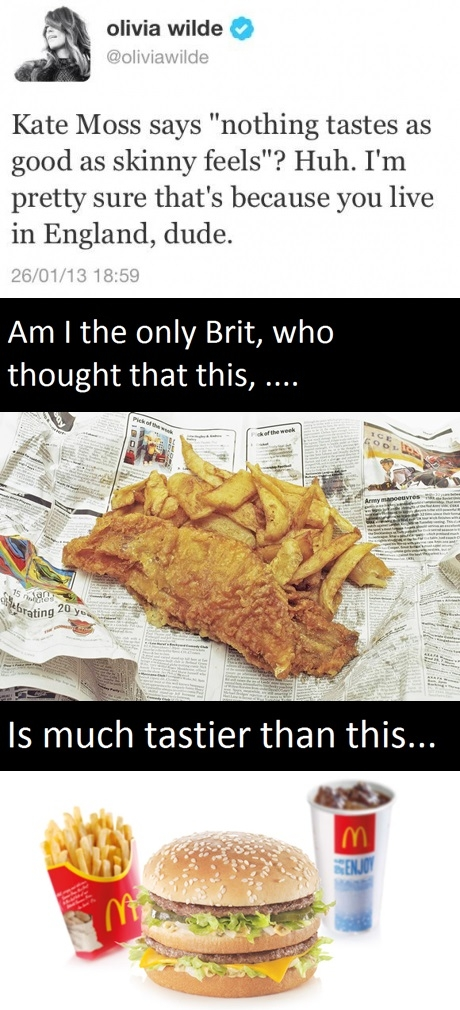 Yes, how bloody British of me.
