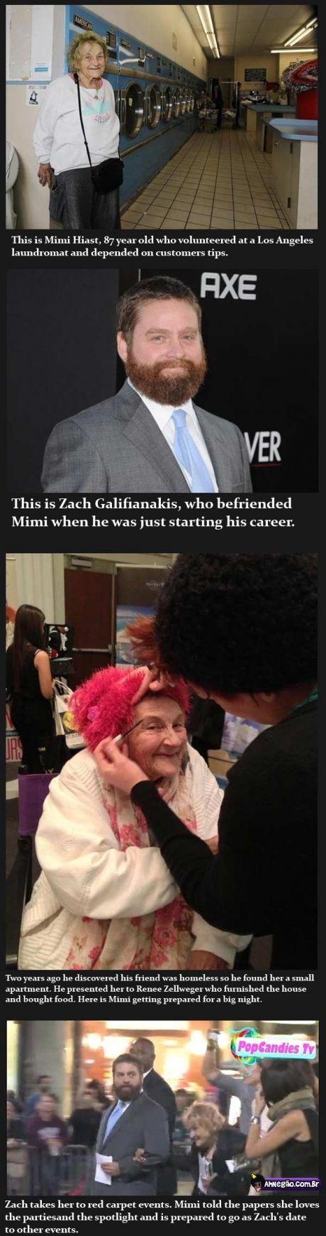 Zach Galifianakis is a good man — Faith in humanity restored!