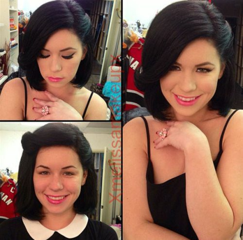 Adult entertainment stars before & after their makeup — Belle Noire