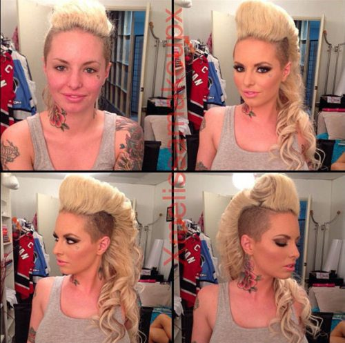 Adult entertainment stars before & after their makeup — Christy Mack