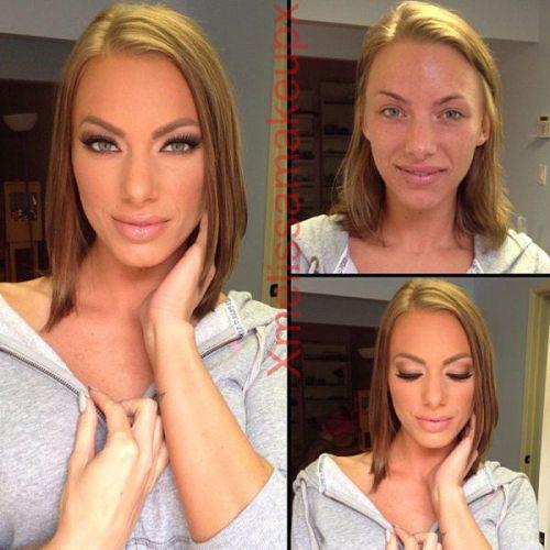 Adult entertainment stars before & after their makeup — Julez Ventura