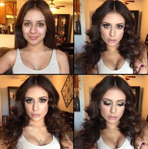 Adult entertainment stars before & after their makeup — Jynx Maze