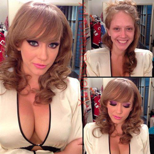 Adult entertainment stars before & after their makeup — Kagney Linn Karter