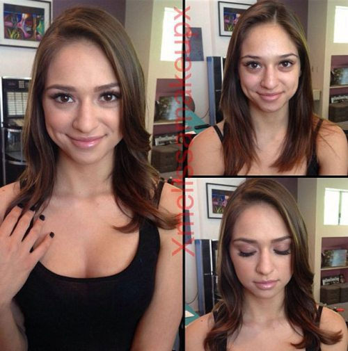 Adult entertainment stars before & after their makeup — Sara Luvv
