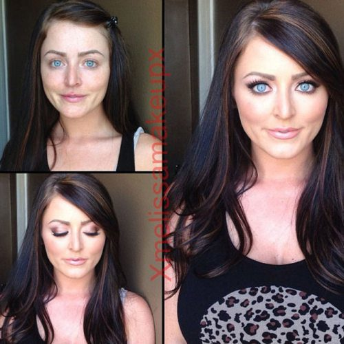 Adult entertainment stars before & after their makeup — Sophie Dee