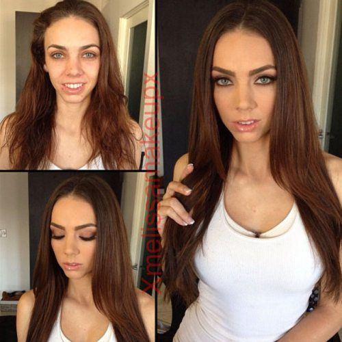 Adult entertainment stars before & after their makeup — Tiffany Tyler