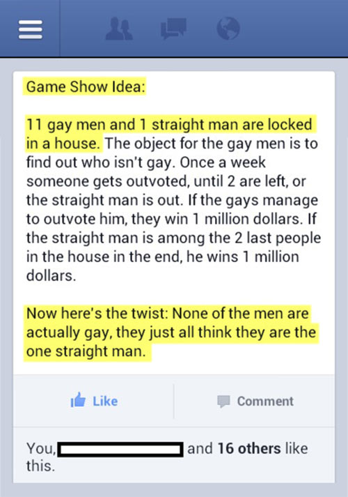 Best game show idea ever…