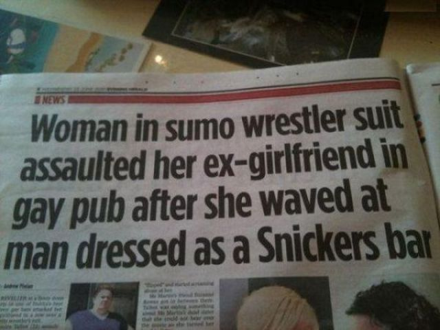 Funny and Weird Stuff Written in Newspapers 2