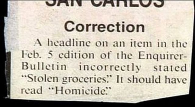Funny and Weird Stuff Written in Newspapers 24