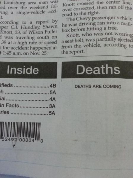 Funny and Weird Stuff Written in Newspapers 28