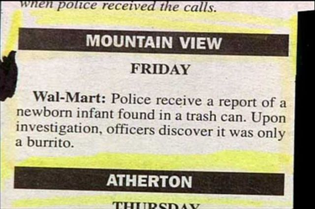 Funny and Weird Stuff Written in Newspapers 6