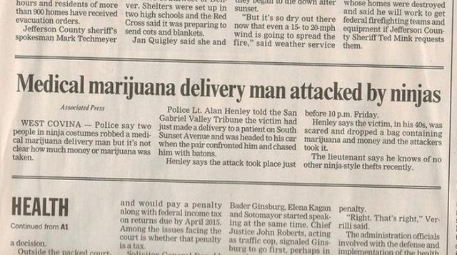 Funny and Weird Stuff Written in Newspapers 8