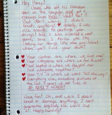 Girl gets revenge on her cheating boyfriend...