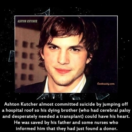Good guy Ashton Kutcher