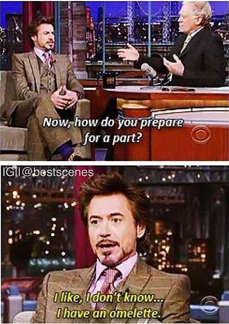 How Robert Downey, Jr. prepares for a part…