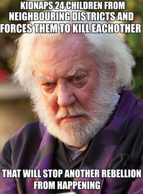Hunger Games logic…