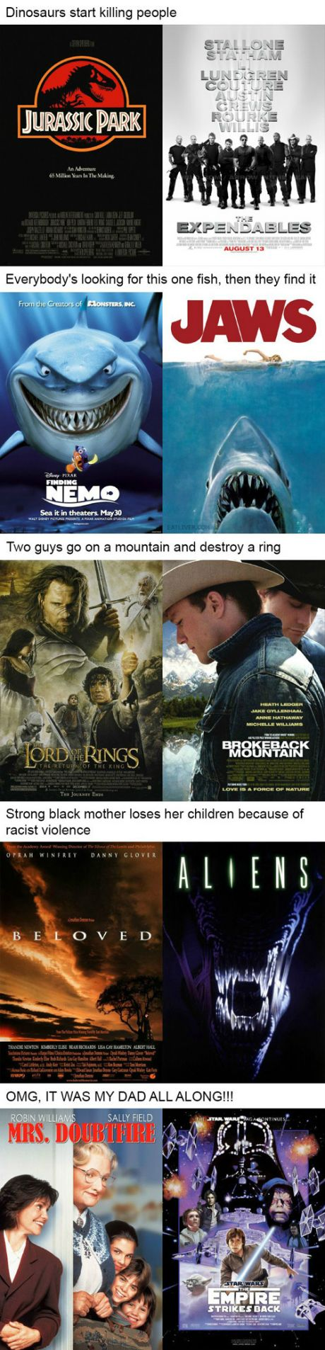 Movies that can be described with the same sentence...
