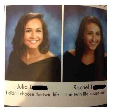 Probably the best yearbook quote of this decade