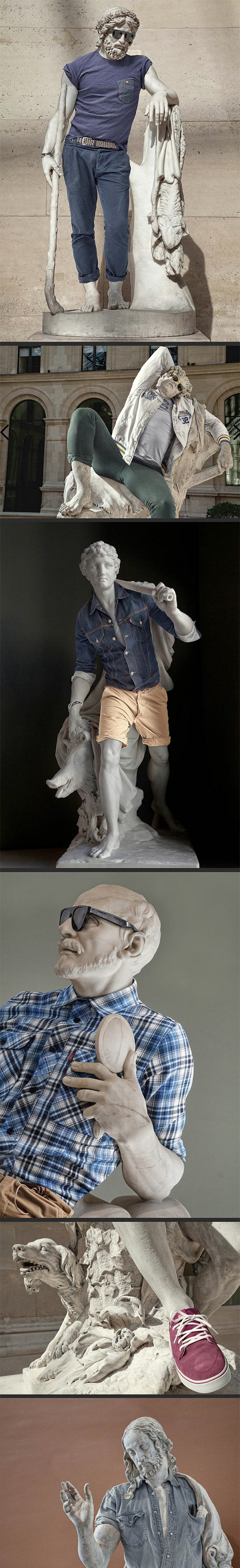 Sculptures in modern day clothes…