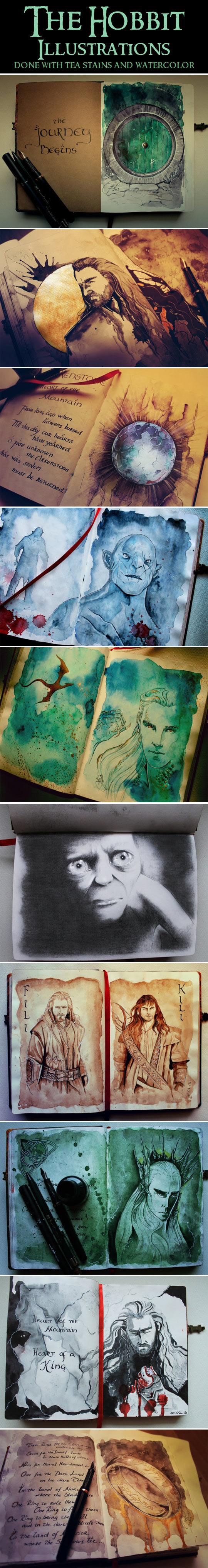 The Hobbit Illustrations.