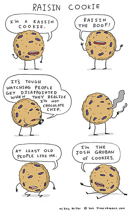 The life of a raisin cookie.